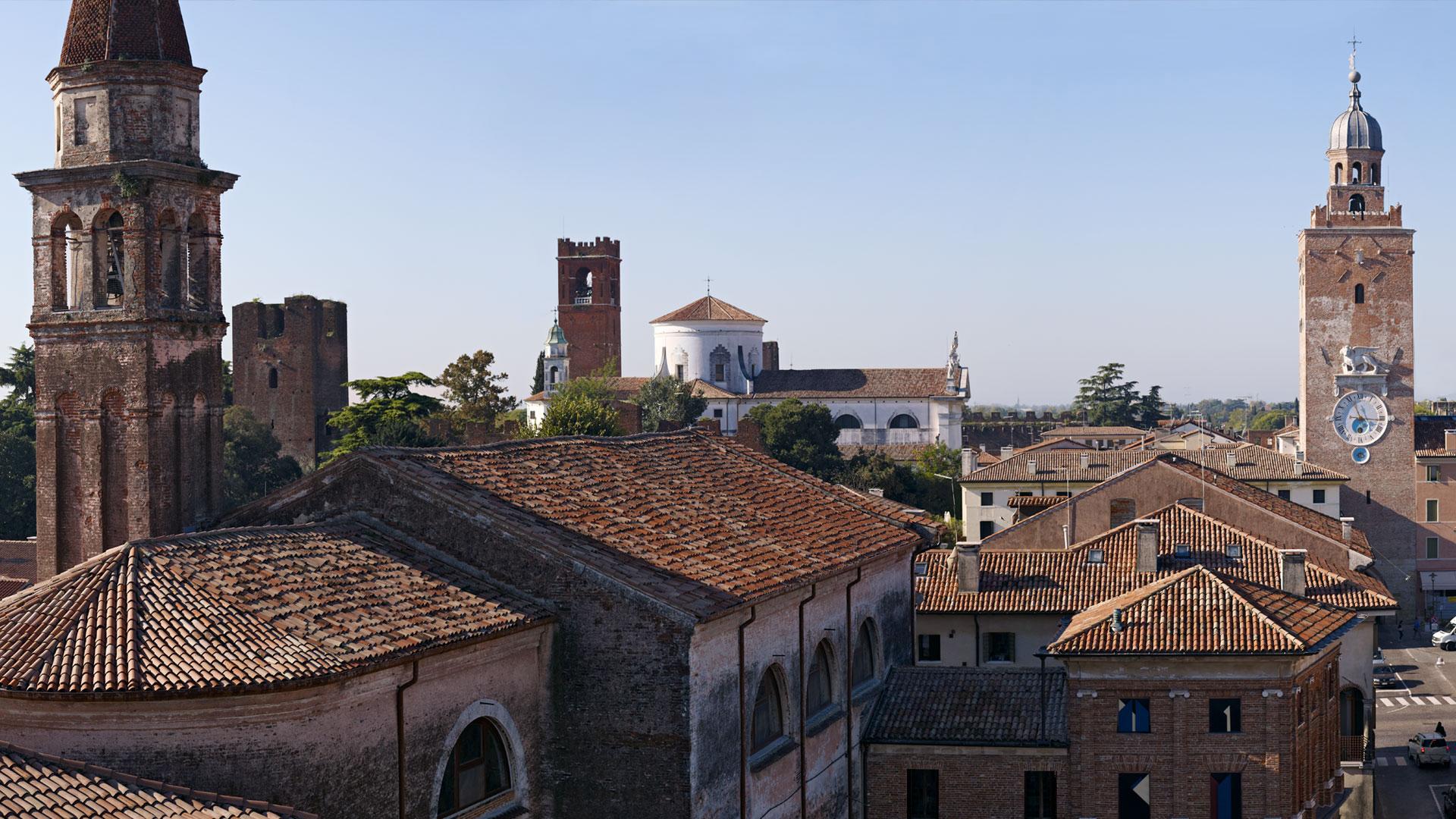 Veduta aerea di Castelfranco Veneto
