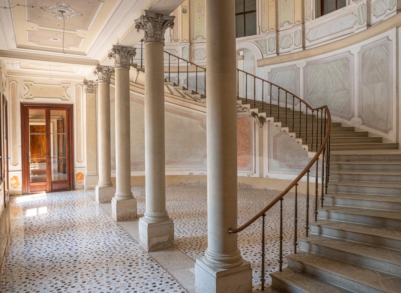 Villa Parco Bolasco - Scala monumentale